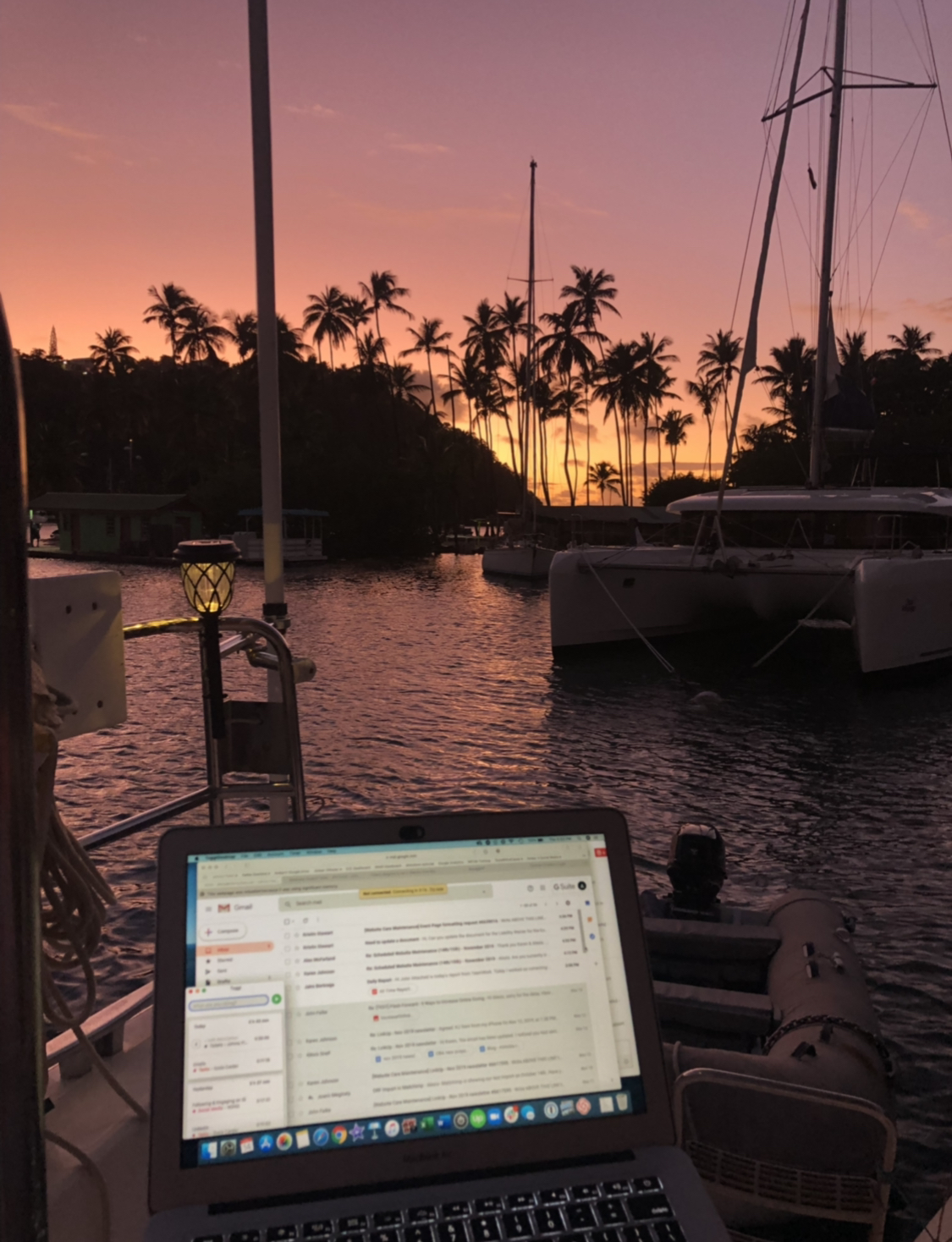 freelance view at Marigot Bay